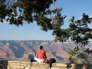 Horizonte em camadas no Grand Canyon - AE