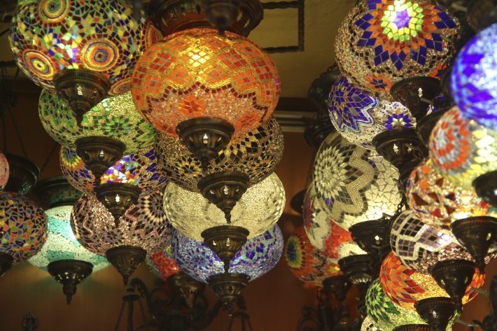 Lamps at the Grand Bazaar.