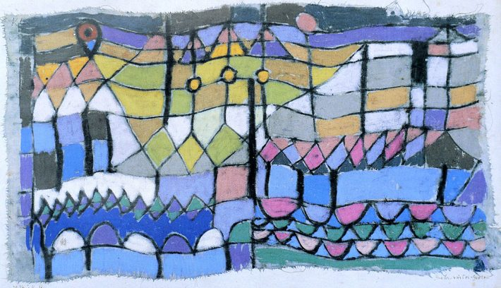 Level-Crossing Keeper´s Garden, tela de Paulo Klee